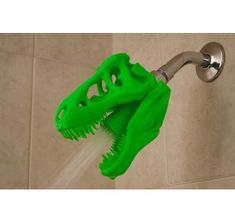 Printed T-Rex Shower Head (Original by designer) by VoodooManufacturing USD) Boy Room, Kids Room, Ideas Baños, Room Ideas, Gift Ideas, Bathroom Kids, Bathrooms, Bathroom Green, Bathroom Colors