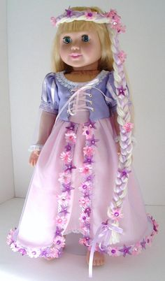 All Tangled Up by MyGirlClothingCo on Etsy, $34.00 But would be able to make hair and buy dress from disneyland