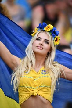 Poland and Ukraine serve up a treat in the stands for their Group C clash in Marseilles Hot Football Fans, Football Girls, Soccer Fans, Ukraine Women, Ukraine Girls, Stunning Girls, Gorgeous Women, Beautiful, Black Pink ジス