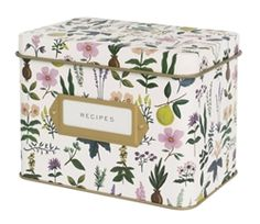 Rifle Paper Co. Herb Garden Recipe Tins, designed by Anna Bond for the Spring/Summer 2016 collection