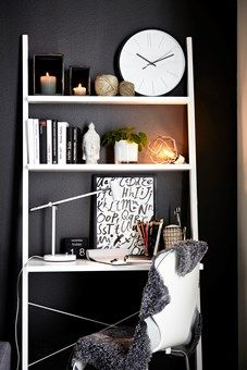 Wille - Skrivbord   Mio Interior And Exterior, Interior Design, Guest Room, Home Office, Bookcase, Shelves, Desk, House Styles, Inspiration