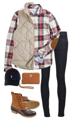 """Elbow Patches and Polo"" by sc-prep-girl ❤ liked on Polyvore featuring rag & bone/JEAN, H&M, J.Crew, L.L.Bean, Tory Burch, women's clothing, women, female, woman and misses"