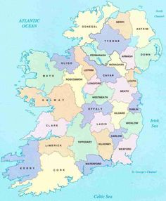 Help planning your Ireland vacation! Map with 'clickable' counties to help you find attractions, lodging, and more!