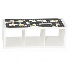 Kids room decor: Small City Furniture decal for IKEA KALLAX shelf three cubes Furniture not included