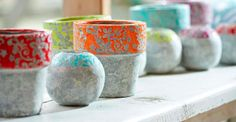 Cement flouro colored plant pots available at Browsers Furniture Co., Limerick, Ireland and www.browsers.ie