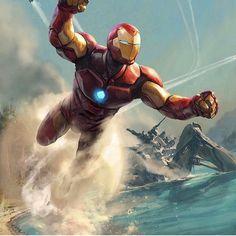 "Invincible Iron Man - by Aleksi Briclot ""Variant cover / Marvel comics"" Marvel Comics, Marvel Vs, Hero Marvel, Heros Comics, Iron Man Avengers, The Avengers, Iron Man Kunst, Iron Man Art, Les Innocents"