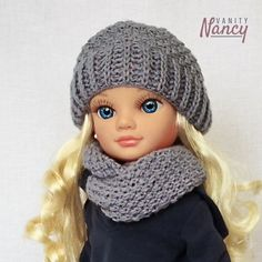 Girl Dolls, Barbie Dolls, Crochet Dolls, Crochet Hats, Nancy Doll, Beautiful Dolls, American Girl, Doll Clothes, Arts And Crafts