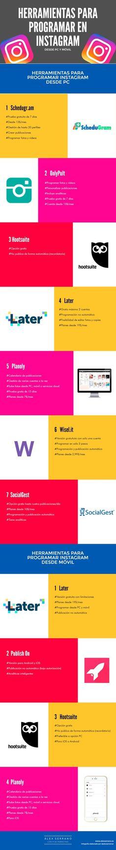 Herramientas para programar en Instagram. Estrategia de redes sociales