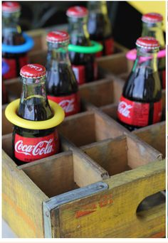 Coca-cola ring toss - you can drink them later too!