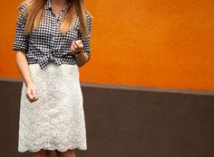Gingham and lace | Country chic