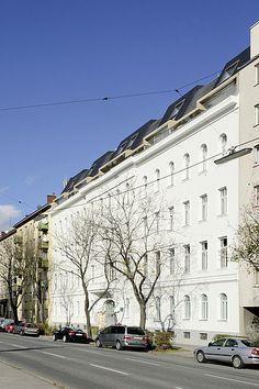 Aufstockung in der Wiener Schüttelstraße. © OBENAUF