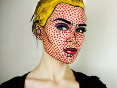 Pop art makeup...someday with enough time, enough skill, and enough supplies, this will be made possible.