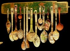 However, there were a couple of things that caught my. Ceramic Spoons, Ceramic Clay, Wooden Spoons, Spoon Ornaments, Spoon Art, Spoon Jewelry, Cool Art Projects, Found Art, Assemblage Art