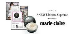 ANEW Ultimate Supreme Advanced Performance Crème with Tahitian black pearl featured in Marie Claire! #skincare #magazine #avonrep
