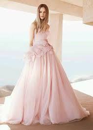 vestido de novia color rosa - Buscar con Google