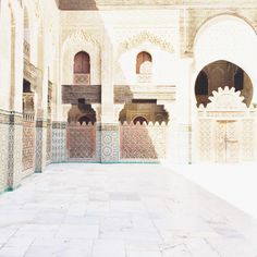 Sundrenched courtyards Visit Morocco, Courtyards, Taj Mahal, Louvre, Architecture, World, Building, Islamic, Instagram Posts