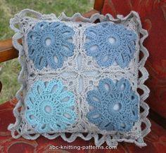 ABC Knitting Patterns - Crochet Flower Arbor Cushion Thanks for sharing! ¯\_(ツ)_/¯ ☀ CQ #crochet