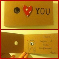 Homemade greeting card for my boyfriend :)
