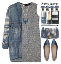 """Wardrobe Staple:Denim Jackets"" by grozdana-v ❤ liked on Polyvore featuring Valentino, R13, Chanel, Alexis Bittar, Oribe, Christian Dior, Cantarelli, denimjackets and WardrobeStaples"