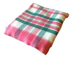 Vintage Plaid Picnic/Gameday Blanket on Chairish.com