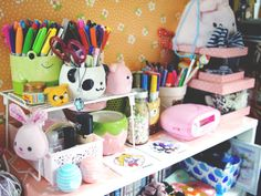 lazyeqq Desk Inspiration, Kawaii, Planner Ideas, Desks, Studying, School Supplies, Stationary, Room Ideas, Porn