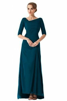 Sunvary Vintage Half Sleeves Chiffon Mother of Bride Dresses Long Party Dresses Beautiful Dresses, Nice Dresses, Formal Dresses, Long Dresses, Party Dresses, Homecoming Dresses, Bridesmaid Dresses, Half Sleeves, Chiffon