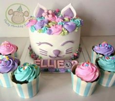 Kitty birthday cake cat cake kitten cake #CatBirthday