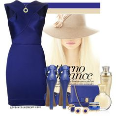 """""""I'M FEELING BLUE"""" by mzbossyfashions11 on Polyvore"""