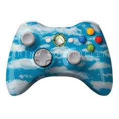 Custom XBOX 360 controller Wireless Glossy WTP-175-Clouds Custom Painted