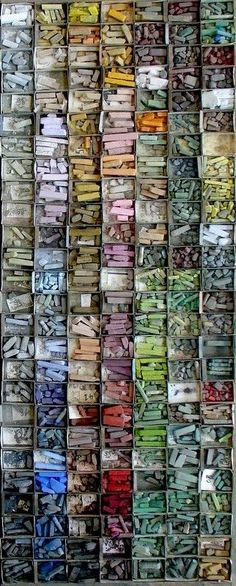 isis0isis:  Belgian artist Mathieu Weemaels' pastel collection(via Pin by Brenda Lowe Thomas on Texture | Pinterest)