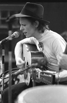 David Bowie rehearsing at the RCA Studios complex in New York City, 1974, by Martin Cohen