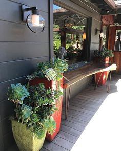 The Roadhouse in Big Sur. Chile Quilles are highly recommended! Craftsman contemporary with some funky flare. #design #bigsur #theroadhouse #hwy1 #outdoordining #calocals - posted by Sarah Tretinjak https://www.instagram.com/sarah_tretinjak - See more of Big Sur, CA at http://bigsurlocals.com