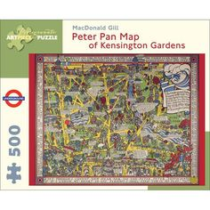 Keep the kids entertained for hours with this Peter Pan Jigsaw. This 500 piece jigsaw puzzle features a map of Kensington Gardens where, in the stories, Peter Pan once lived as an adult. A great gift for kids to enjoy or a fun family activity.