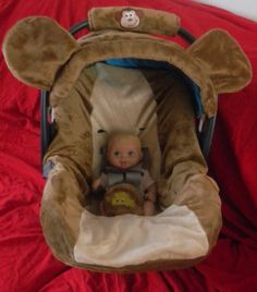 Monkey Car Seat Cover and Canopy with Bonus Binky Pocket on Etsy, £51.11