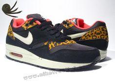 wholesale Black Sandtrap Dark Gold Leaf Sunburst Nike Air Max 1 Leopard Pack Womens Athletic Shoes