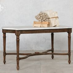 Vintage Louis XVI Style Coffee Table in Dark Wood  $985.00 #thebellacottage #shabbychic #eloquence