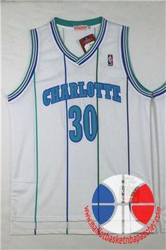 maillot basket nba retro Charlotte Hornets curry #30 Blanc mesh tissu 22,99€