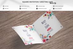 Invitation / Greeting Card Mock-Up by MassDream on @creativemarket