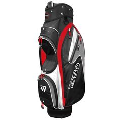 """T:750 Trolley Bag in Black, White and Red - Includes storage pockets, cool pocket, 7.5"""" divider top and accessory clip"""