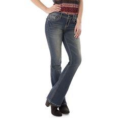 Juniors' Wallflower Legendary Bootcut Jeans, Girl's, Size: 3 Short, Dark Blue