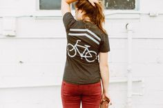 """Share the Road"" bike t-shirt. #blackbirdtees #womens #fashion #tshirt"