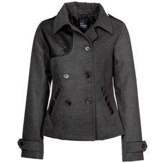 Even&Odd BATMAN Winter jacket mottled dark grey (17.645 HUF) ❤ liked on Polyvore featuring outerwear, jackets, coats, grey, dark gray jacket, pocket jacket, dark grey jacket, grey jacket and gray faux leather jacket