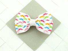 Rainbow Mustache Hair Bows for Girls / Hair by OneofEverythingBows, $2.75