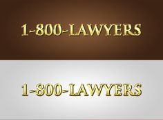 logo for 1800LAWYERS by RobCrozz