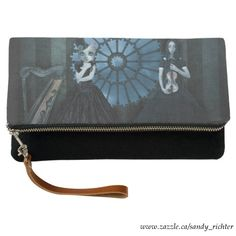 Fold-Over Clutch featuring Gothic 'Before the Concert' artwork by Sandy Richter available at Zazzle