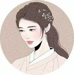 Korean Art, Asian Art, Kpop Drawings, Art Drawings, Korean Painting, Japanese Drawings, Digital Art Girl, Art Portfolio, Beauty Art