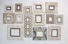 Ideas Inspiration - Delta Frame Girls SO many ways to display these distressed frames. Neutrals that could go up a stairwell, or a hallway or even a large living room gallery wall