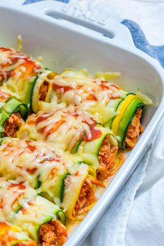 Clean Eating Zucchini Chicken Enchilada Roll-Ups are Heaven! - Clean Food Crush