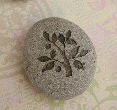 TREE OF LIFE Home decor stone paperweight by sjengraving on Etsy, $25.00