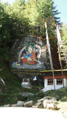 Guru Rinpoche, on the road from Thimpu to Punakha, Bhutan